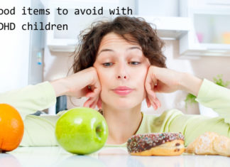 Food items to avoid with ADHD children