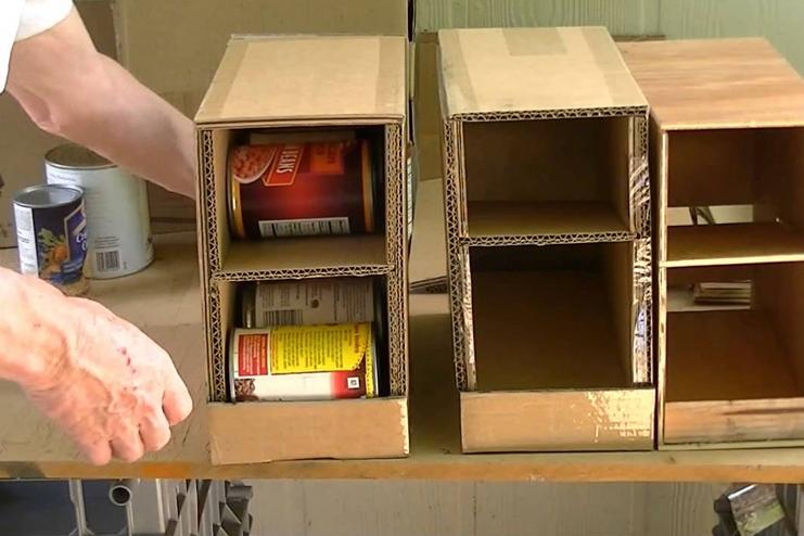 Cardboard-Can-Rack