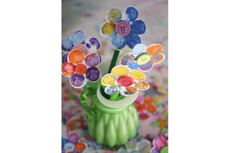 Cork-Stamped-Flower-Craft