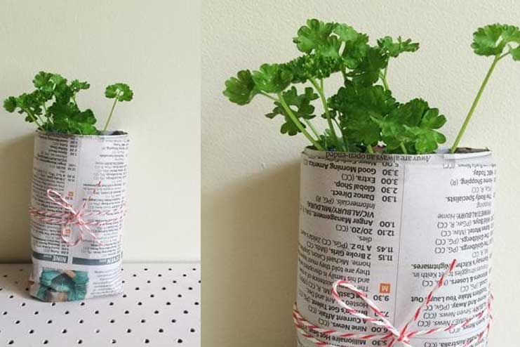 Newspaper-Pot