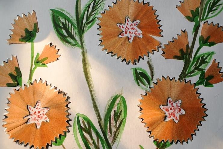 Pencil-flakes-flower