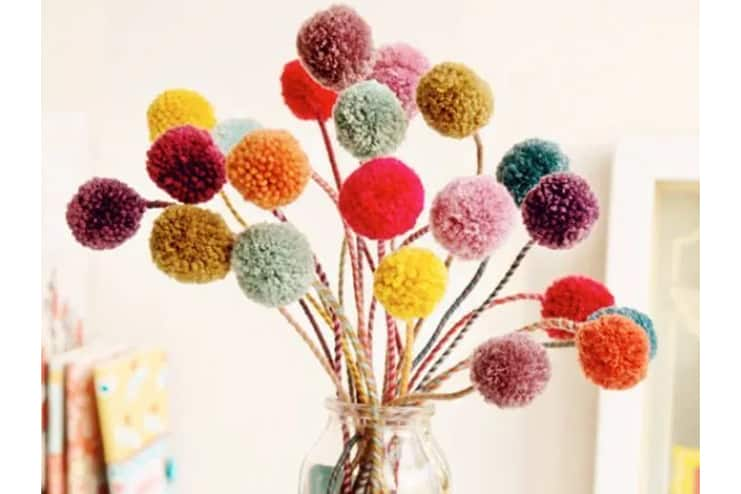 Spring-Bouquet-with-pom-poms