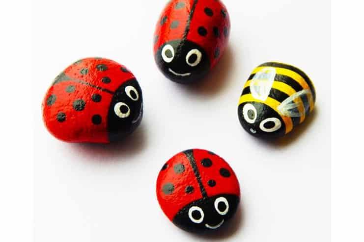 Stone-LadyBug-Craft