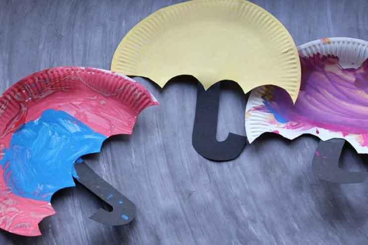 Umbrella-Paper-Plate-Craft