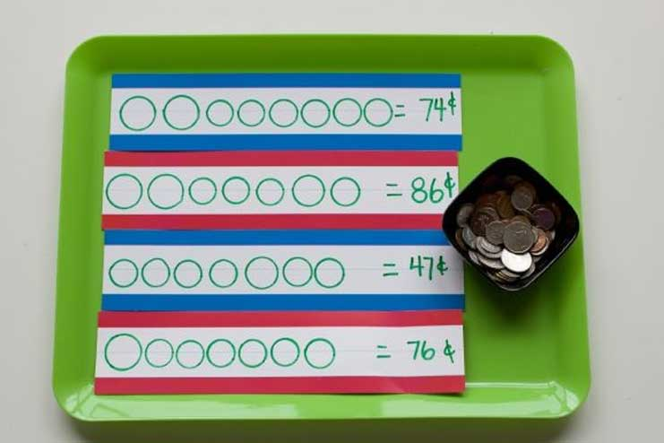 Money-Math-Tray