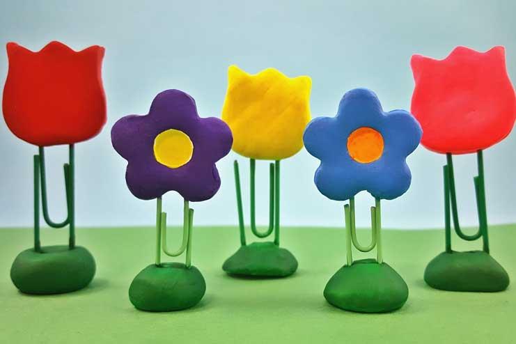 Paper-Clip-Flower