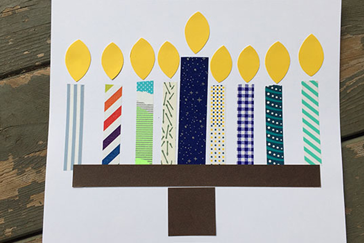 Washi-tape-menorah