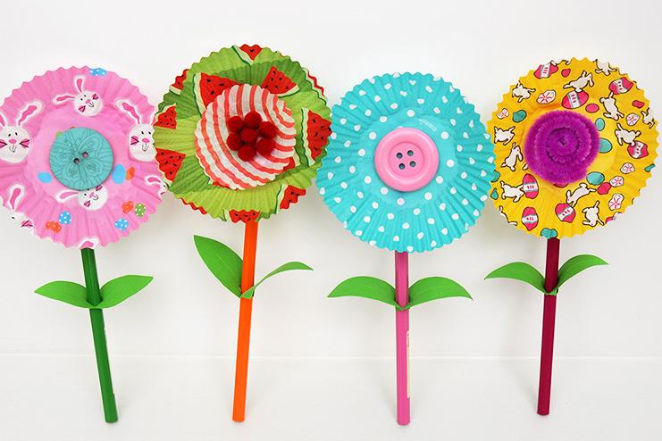 Cupcake-Spring-flowers